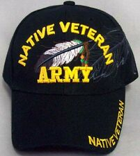 Native Veteran - Army Native Pride Caps Hats Embroidered (CapNp481 ^)