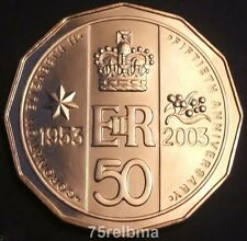2003  Australian Queen's Coronation 50cent  UNC