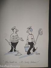 "CLIFFORD LEWIS ""CLEW"" Original Pen & Ink Cartoon - Just Good Friends Tattoo #258"