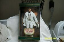 Mattel 2001 Gone With The Wind Rhett Butler Doll #53854 In White suit and hat.