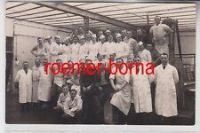 75886 Foto Ak Koblenz Metzgerei Fleischerei Mitarbeiter um 1920