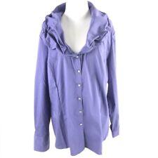 564cfad49babb5 Soft Surroundings Women's Tencel Denim Jewel Button Down Blouse Size XL-18  NWOT