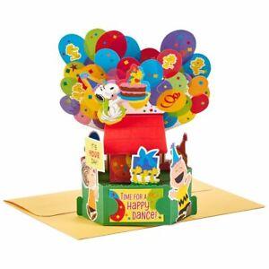 HALLMARK Birthday Card ~ Paper Wonder 3D POP UP Greeting Card ~ PEANUTS Snoopy