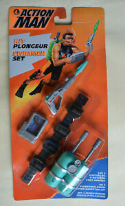 Action Man Hasbro Carded Unopened 1995 SWIMMER SET Accessories green