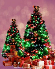 FIBER OPTIC CHRISTMAS TREE MULTI COLOR CHANGING  X-MAS TREE INDOOR TREE