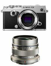 Olympus PEN-F Digital Camera with Olympus 12mm f/2.0 Lens Silver