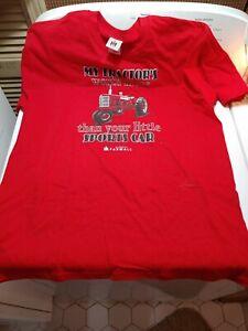 Vintage International Harvester McCormick Farmall Tractor Advertising T-Shirt LG