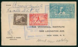 Mayfairstamps Nicaragua 1937 to US New York Tri Frank Cover wwr7521