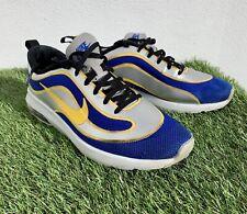 Nike Air Max Blue Silver Yellow Rare Design UK Size 8