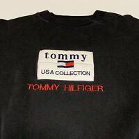 Tommy Hilfiger Men's Size XL Black Tommy USA Collection Crew Neck Sweatshirt