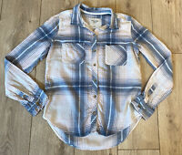 Abercrombie & Fitch Women's Casual Shirt Blue Check L/S Small Cotton