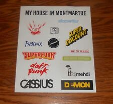 Sticker Sheet Decal Promo 10x8 Phoenix Superfunk Daft Punk Cassius D=Mon