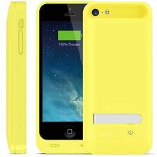 iFans® [Apple Certified] 2400mAh iPhone 5/5S/SE/5C Battery Charger Case - Yellow