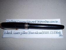 Conway Stewart 36 fountain pen in black, lever fill (New sac), GWO, CS5N Nib.