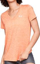 Under Armour Twist Tech Short Sleeve Womens Running Top - Orange