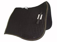 PRI Dressage Show Pad: Swan-tail, Equu-Felt Quilt, High Rise Wither, BLK/GLD