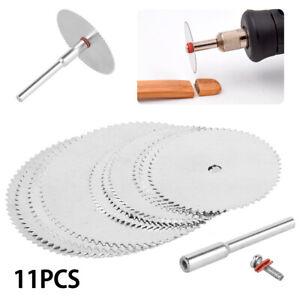 11pcs Circular Saw Blade Disc Mini Drill Wood Cutting For Dremel Rotary Tool
