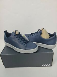 ECCO Mens Soft Water Repellent Leather Golfing 9 - 9.5 Trainers Sneakers Shoes