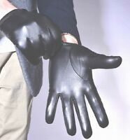 New Men's Police Tactical Gloves,100% Real Black / Brown Leather Gloves