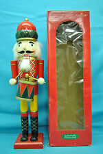 """Timeless Treasures 20"""" Deluxe Wooden Nutcracker In Box Individually Handcrafted"""