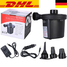 230V Gebläsepumpe 3 Adapter DHL Elektropumpe 2 in 1 Elektrische Luftpumpe 12V