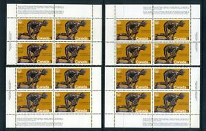 CANADA  1975  Olympic Games $1 stamp Set of 4 plate blocks  SG 801  MNH