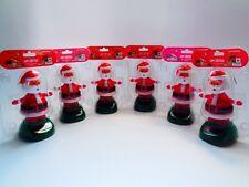 Lot of 6 Solar Powered  Motion Dancing's Santa Christmas Gift Decoration