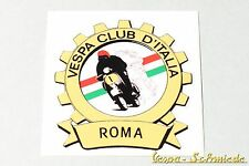 "Dekor Aufkleber ""Vespa Club Roma"" - Rom Italien Italy Italia Sticker V50 PK Klub"