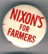 1968 NIXON 's for FARMERS pin pinback buton