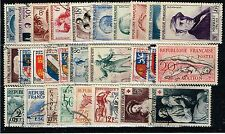 FRANCE ANNEE COMPLETE 1953 OBLITEREE COTE 119€