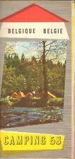 CAMPING 58 BELGIE/BELGIQUE (GIDS CAMPINGS BELGIË 1958)