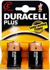 DURACELL PLUS C SIZE (MN1400) BATTERIES PACK OF 2