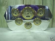 1965 DODGE TRUCK 6 GAUGE GAUGE CLUSTER GOLD