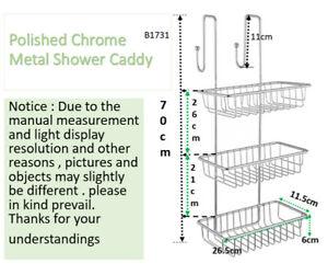 Shower Caddy Bathroom Accessories Polished Chrome Bath Shelf 3 Tier Storage