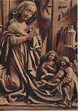 Alte Kunstpostkarte - Pfarrkirche Kefermarkt - Flügelrelief: Christi Geburt