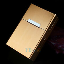 Cigar Cigarette Tobacco Storage Gold Pocket Aluminum Metal Box Holder Case