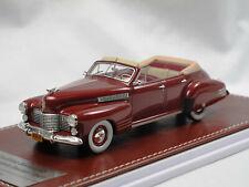 GiM 021a 1941 Cadillac Series 62 Convertible Sedan Maroon 1:43 Limited 150 pcs
