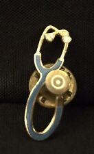 Goldtone Lapel Tie Pin Vintage Doctor Stethoscope Enam