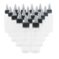 20x Plastic Empty Squeeze Bottles With Twist Cap Tip Applicator, Glue Bottle