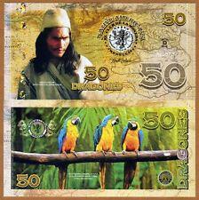 El Club De La Moneda 50 Dragones 2016 (2015) Polymer UNC> Arahuaco, Parrots