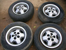 JAGUAR XJS V12 SET OF 5 ALLOY WHEELS WITHOUT TYRES IN GOOD USABLE CONDITION