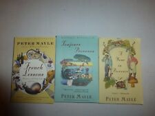 Lot of 3 Peter Mayle, French Lessons, Toujours Provence,Year in Provence PB 2002