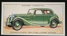 Triumph Gloria Vitesse   Original 1930's Vintage Card  VGC