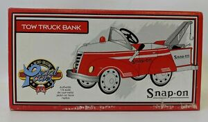 1999 CROWN PREMIUMS 1:6 Scale SNAP-ON Tow Truck Pedal Car Bank, SEALED IN BOX!