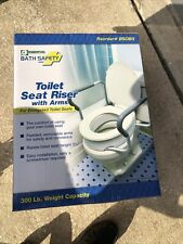 Essential Medical Supply B5083 Elevated Toilet Seat with Arms