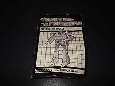 transformers g1 original vintage shockwave instructions manual