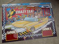 "CRAZY TAXI  SEGA   ORIGINAL 33 1/4- 24"" vintage arcade game sign marquee"