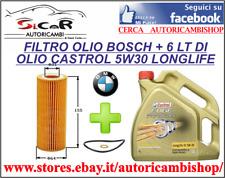 6 LT CASTROL 5W30 + FILTRO OLIO BOSCH BMW SERIE 1(E87) SERIE 3(E90)  X3(E83)