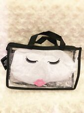 Clear Black Bag Clear Travel Bag Pink Lips Clear Makeup Bag Free Shipping Sale