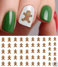 Christmas Gingerbread Man Nail Art Waterslide Decals - Salon Quality!